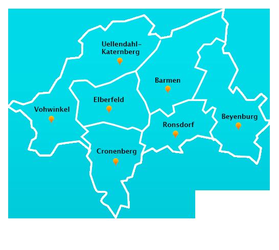 Stadtteile Winterdienst Schnee- Eisbeseitigung Wuppertal